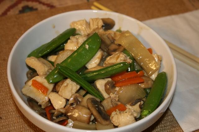 moo goo gai pan moo goo gai pan is a stir fry dish of chicken and ...